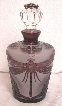 Art Deco Dragonfly Perfume Bottle