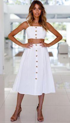 Portofino Skirt (White) Mura Boutique