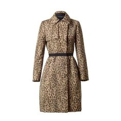 GIAMBATTISTA VALLI Leopard printed trench coat ($4,045) ❤ liked on Polyvore