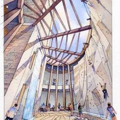 Architectural Renderings InWatercolor - The Old School Alternative To 3D Digital Rendering - Architectural Rendering and Architectural Illustration in Watercolor, Pencil and Pen and Ink