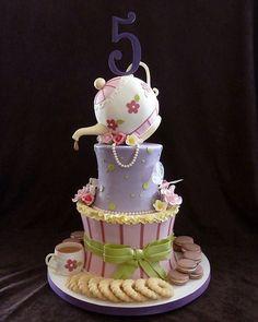 """Fancy Nancy"" tea party birthday cake   Flickr - Photo Sharing!"