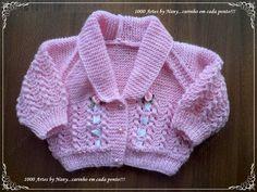 Casaquinho Sophia - tricô bebê - 1000 Artes Love Knitting, Baby Knitting, Knit Baby Sweaters, Crochet For Boys, Babies, Fashion, Knitting For Kids, Baby Knits, Crochet Boys
