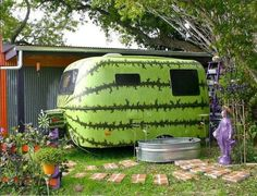 Giant Watermelon Camper ~ so adorable!