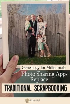 Using Instagram and Chatbooks for Genealogy is easy with these tips! Photo Sharing Apps Replace Traditional Scrapbooking