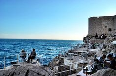This cliff-side cafe in Dubrovnik is hard to find, but well worth it for these amazing views.