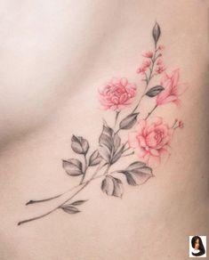 Trending Flower Tattoos Ideas For Women 26 - tatoo feminina Carnation Flower Tattoo, Blue Flower Tattoos, Flower Tattoo Designs, Lotus Flower, August Flower Tattoo, Delicate Flower Tattoo, Vintage Flower Tattoo, Star Tattoos, Cute Tattoos