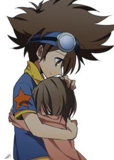 Tai y Kari / Digimon Adventure Digimon Seasons, Digimon Wallpaper, Digimon Frontier, Digimon Tamers, Digimon Digital Monsters, Digimon Adventure Tri, Cartoon Tv, Anime Kawaii, Cute Pokemon