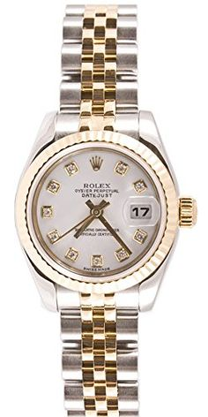 #rolexladieswatches Rolex Ladys 179173 Datejust Steel & 18k Gold, Jubilee Band, Fluted Bezel & White Diamond Dial Check https://www.carrywatches.com