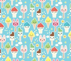 Ice Cream fabric by kimsa on Spoonflower - custom fabric