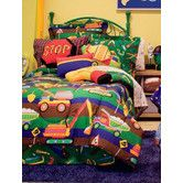 Found it at Wayfair Supply - Tyler's Toy Chest Bed in a Bag Set