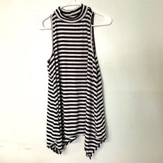 New stripe mock neck top blouse chic boho New mock neck tank blouse **not nasty gal Nasty Gal Tops Tank Tops