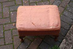 Lloyd Loom footstool/sewing box
