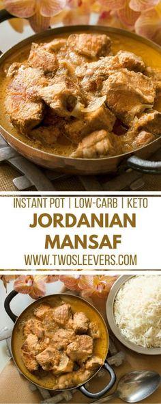 Jordanian Mansaf   Lamb Recipes   Keto Recipes   International Recipes   Instant Pot Recipes   Low Carb Recipes   Two Sleevers   #twosleevers #mansaf #keto #lamb #instantpot via @twosleevers