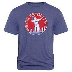 6a713f140 MEN S WEARING APPAREL New York Giants Throwback Logo Tri-Blend T-Shirt -  Royal