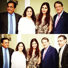 With the president of #Cyprus at an #invigorating evening hosted by visionary founder of #YES Bank -@rana Kapoor discussing #synergies & growing relations between #india & #cyprus