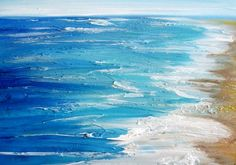 Original Textured Affordable Beach Painting