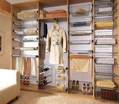 Организация хранения вещей в шкафу