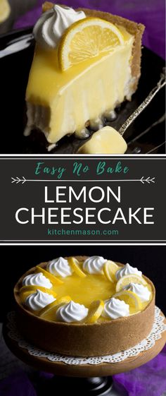 This lemon cheesecake recipe is light as a feather, wonderfully creamy and perfect for dinner parties! It's also an easy no bake cheesecake recipe which makes it an ideal make ahead dessert. Click to try it out for yourself! #lemoncheesecake #nobakecheesecake #easycheesecakerecipe