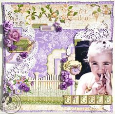 A dreamy layout by @Tara Orr using Secret Garden! #graphic45 #layouts
