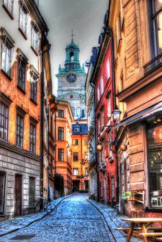 Gamla Stan area of Stockholm,Sweden
