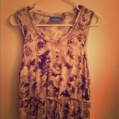 Simply Vera sleeveless dress Cotton dress, gathered waist Simply Vera Vera Wang Dresses