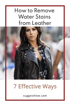 Rainy weather and stuck water puddles can make your leather accessories like leather purse, leather shoes or leather boots look paled and dirty. In this situation, avoiding leather is never a good choice. Instead, learn how to remove water stains from leather and look fabulous all the time. #clean #homehacks #DIY #cleaninghacks Leather Accessories, Leather Shoes, Rubbing Alcohol Uses, Water Puddle, Remove Water Stains, Washing Soap, Commercial Cleaners, Dishwasher Soap, Rainy Weather