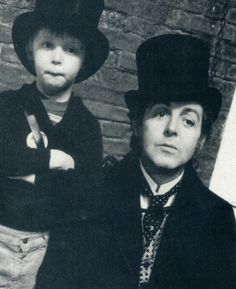 Paul and James McCartney - The cutest father/son pair I have ever seen! <3
