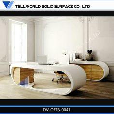 モダンなデザインのアクリル固体表面オフィスデスク/キュービクルオフィスの机のパーティションのガラスパーティション