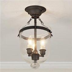 Mini Smokebell Semi-Flush Ceiling Lantern (4 finishes!)