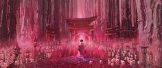 ArtStation - the secret torii gate, Te Hu Japanese Gate, Technical Artist, Torii Gate, Landscape Concept, Fantasy Setting, Environment Concept Art, Fantasy Inspiration, Environmental Art, Fantastic Art