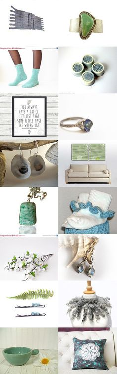 Blue Meets Green by Julia on Etsy--Pinned with TreasuryPin.com
