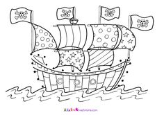 Here are some pirate theme colouring pages for you to enjoy!
