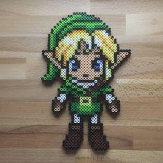 Legend of Zelda / Link Perler Bead Sprite by BeardedArtists