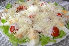 Caesar salad on the new Christmas Salad Recipes, Caesar Salad, Fresh Rolls, My Recipes, Cabbage, Yummy Food, Vegetables, Cooking, Ethnic Recipes