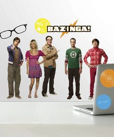 Loving this Big Bang Theory Peel & Stick Wall Decals on #zulily! #zulilyfinds