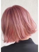 ピンクヘアーのボブ byNAKAZAWA