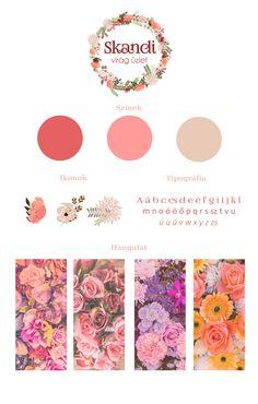 Moddboard option for a flower shop's webpage design.