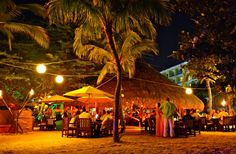 DINING ON THE BEACH: Open-air dining on the beach is a special island experience available at a number of Aruba restaurants. The most romantic tables are at Passions on the Beach and Flying Fishbone.