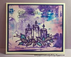 Paper Creations by Shirley: Gelli Plate Print, Memory Box Candle Die
