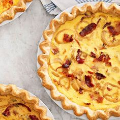 You can't go wrong with this Quiche Lorraine. It's packed with eggs, cheese and bacon. More Comfort food recipes: http://www.bhg.com/recipes/dinner/comfort-food-recipes/?socsrc=bhgpin092213quichelorraine&page=5