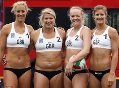 "Great Britain women's Beach Volleyball team: This online news article is about a public volleyball tournament the women held in London. The article got a lot of comments, mostly to the effect of ""these girls are too fat to dress this way"". One commenter actually said, ""Oh God, I just bought beach volley tickets! I hope the athletes (male and female) will be better looking and fitter than these!"" If these girls are fat, then I'm proud to be labeled fat, too."