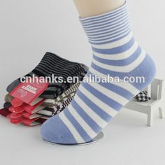 women socks, simple design style stripped socks for women