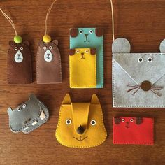No photo description available. Felt Crafts Diy, Felt Diy, Handmade Felt, Crafts For Kids, Clay Crafts, Sewing Projects For Kids, Sewing For Kids, Craft Projects, Sewing Toys
