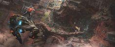 Babel 03 by duster132 on deviantART near future space scape cyberpunk