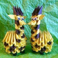 Etsy の Cute 3D Origami Giraffe by OlygamiCrafts