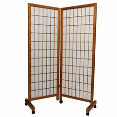 Oriental Furniture Home Partition 61 Inch Meditation Folding Floor Shoji Privacy Screen Room Divider