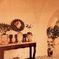 The hall at Luchino Visconti's villa La Colombaia on the isle of Ischia.
