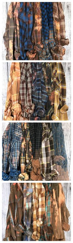 Vintage flannel shirts in distressed blues and copper. Bridesmaid robes  alternative. Mismatched bridesmaids flannels 06cc9156e57