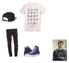 """""""Ash Summer, Summer Chapter 17"""" by cece-volcanoes on Polyvore featuring Stampd, Converse, Lucky Brand, Brixton, men's fashion and menswear"""