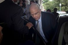 McCain Returns to Cast Vote to Help the President Who Derided Him